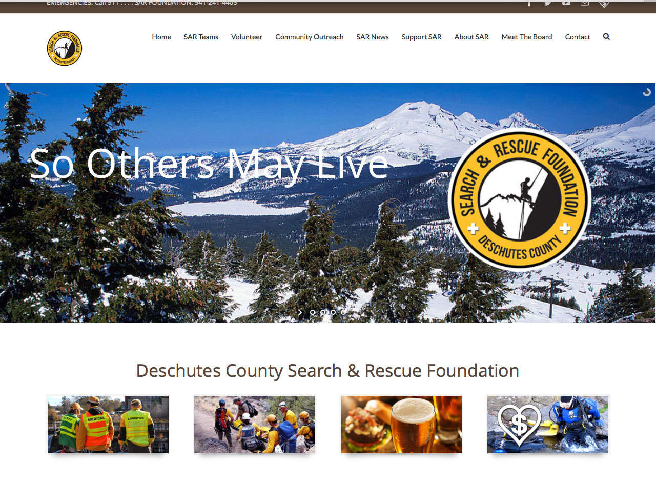 Five12 Digital Responsive Website Design - Deschutes Search and Rescue